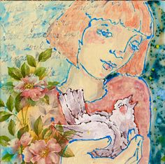 By Merry Arttoones aka Mary Susan Cate art tile