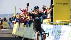 Stage 5 : Aviva Tour of Britain | Official website..after a battle to the top with ex SKY rider Edvald Boasson Hagen - Wouter Poels SKY pipped his friend to the post and took another took a 3 victory for Team SKY