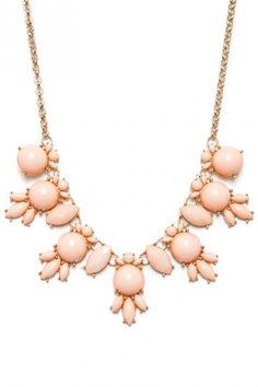 peach statement necklace