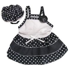 Klippo Pet Adorable and ''Dazzling Polka Dots'' Dog Sundress with Matching Hat