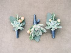 #succulent, #boutonniere  Photography: Taylor Lord Photography - taylorlordphotography.com  Read More: http://www.stylemepretty.com/2014/06/11/eclectic-austin-wedding-pastel-hues/