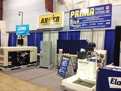 Our PRIMA & ANSER booths with #cummins at the Pacific Agricultural Show 2015! Check out our bucket truck outside on display too! ~ See you there ~