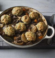 Beef and ale stew with dumplings: this most traditional of slow-cooked British classics is a corker of a one-pot recipe