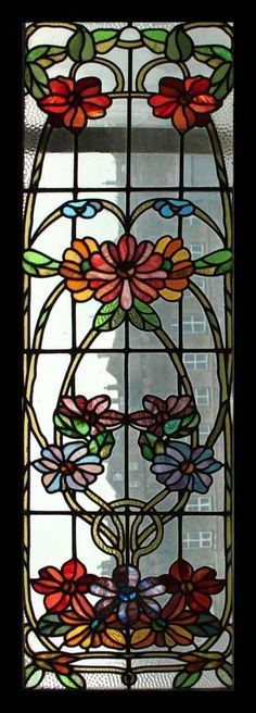 """""""Floral Beauty"""" Stained Glass Window - Pesquisa Google"""