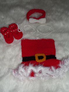 Photo Prop Newborn Crochet Ms Claus Christmas Set by TheCrafty6