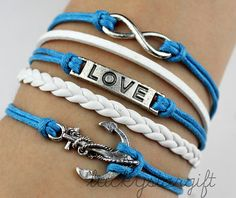 Infinity & bracelet with infinite love cool by luckystargift, $4.29