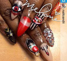 Gangster Nail Art