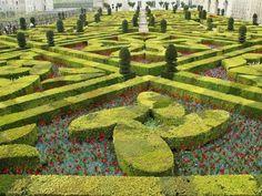 O Chateau de Villandry, na França, tem um dos jardins mais belos do mundo