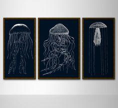Jellyfish paintings