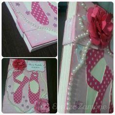 Caderno de assinatura para chá de bebê