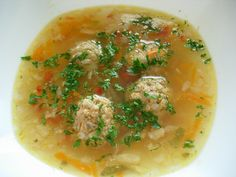 Meals for children:Meatball. - Meals for children:Meatball. Soup Ingredients – Meatball piece chicken breast,less rice,an - Italian Cookie Recipes, Sicilian Recipes, Greek Recipes, Soup Recipes, Chicken Recipes, Romanian Food, Romanian Recipes, Meatball Soup, Sour Taste