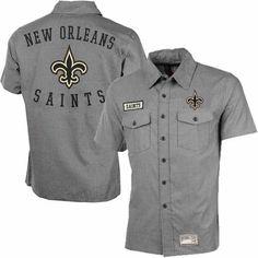 11856ca85  saints  nfl New Orleans Saints Tailgate Crew Button Down Shirt Who Dat