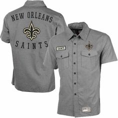 #saints #nfl New Orleans Saints Tailgate Crew Button Down Shirt