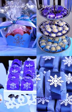 Frozen Party details! Detalles fiesta Frozen! CreativaPartyDesign