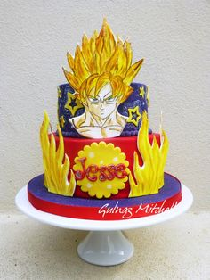 """Goku Sayan 1"" cake - Visit now for 3D Dragon Ball Z shirts now on sale!"