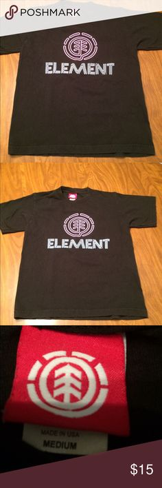 Youth Element tee Youth Medium tee, very good condition, black element Other
