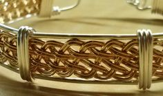 Wire Wrapped Bangle Bracelet Wire Bracelet by KimsSimpleTreasures