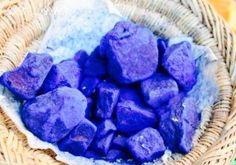 Indigo stones