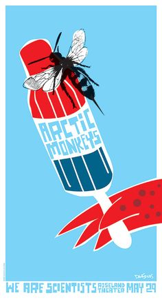 Original silkscreen concert poster for the Arctic Monkeys at the Roseland Theater, Portland OR. 15 x 28 on card stock paper. Edition of 200 signed and numbered by artist Dan Stiles. Illustration Photo, Music Illustration, Illustrations, Arctic Monkeys, Tour Posters, Band Posters, Music Posters, Event Posters, Concert Rock