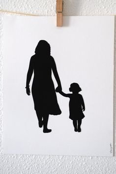 Mom and Daughter. Sweet idea.
