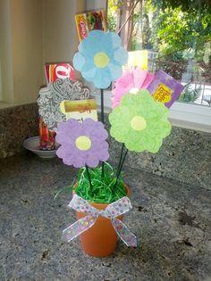 Flower pot gift card holder