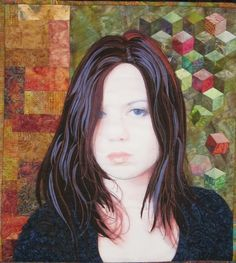 """Fifteen"", a quilt by Camilla Watson from New Zealand. 2012 Houston International Quilt Festival. Techniques include photo-transfer, hand and machine piecing, fabric pens, applique and machine embroidery.  Posted by Bright Hopes Quilting"