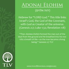 Adonai Elohim ~ Then Adonai Elohim formed the man out of the dust from the ground and He breathed into his nostrils a breath of life—so the man became a living being. Genesis 2:7