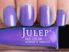 Julep Kayla (Bombshell): Electric iris sheer with violet sheen
