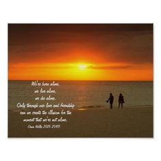 Tropical sunset walk on the beach print