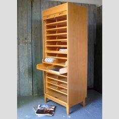 A+vintage+Scandinavian+oak+file+cabinet