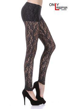 Sassy Lace Leggings Black - $24