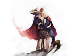 Hetalia- Prussia and Chibi! Germany Aw there's so much brotherly love in this :')