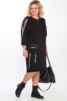 Женская одежда больших размеров - страница 46 Knitwear Fashion, Hijab Fashion, Fashion Dresses, Curvy Fashion, Plus Size Fashion, Mode Kimono, Tunic Designs, Plus Size Party Dresses, Sleeves Designs For Dresses