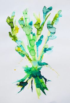 Planterod - Forår.  By Aastrøm. Aastrom.dk #plant #painting #root #spring #forår