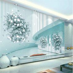 3D Beautiful fantasy wallpaper - 64W x 40H inches / Non-woven Paper