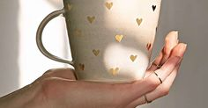 """Pickle Pottery Heart Mug Details Product Sku: 34732644; Color Code: 004 Handcrafted mug from Stephanie Adams' Pickle Pottery. Wheel-thrown in California, each piece and is unique and one of a kind.   Content + Care - Pottery   - Dishwasher safe - Made in the USA  Size - Diameter: 4"""" - Height: 4 $34.00"""