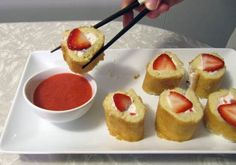 Strawberry Shortcake Sushi