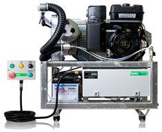 GENERADOR DE AEROSOL U15 HD M Peso: 166 Dimensiones: 87 x 79 x 91 Motor: 13 hp 4 ciclos Presión: 0,3 bar Capacidad depósito de combustible: 67 Lts, Consumo de gasolina: 2,5 Lts
