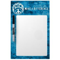 Peace: Make a Difference Dry-Erase Board