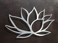 """Lotus Flower Metal Wall Art - Lotus Metal Art - Home Decor  The lotus flower symbolizes awakening to the spiritual reality of life. The lotus flower is a symbol of purity, self-transcendence, and expanding consciousness. In Buddhism, it is a symbol of good fortune. The flower also represents beauty, love, and life.  If we could see the miracle of a single flower clearly, our whole life would change."""" - Buddha  Perfect wall art for the Home or Office! This beautiful 26 x 13 Lotus Flower is…"""