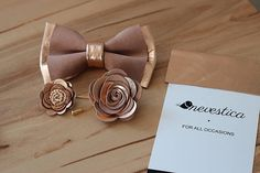 These are genuine soft lamb leather bow ties and lapel flower combinations made in EU. Other colors available. We also offer matching pocket square cards and lapel flowe pins/boutonnieres that you can find in our shop. This is MADE TO ORDER. This unique and eye-catching leather bow