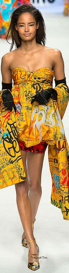 Milan Fashion Week.             Moschino.             Fall 2015.            Ready-To-Wear.
