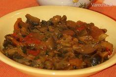 Baklažán so špenátom a paradajkami (vegan) - Recept