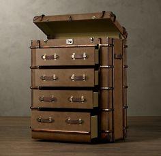необычный комод-чемодан