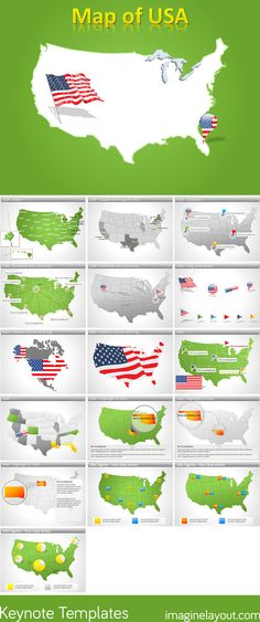 Usa Keynote Maps Templates For Presentations