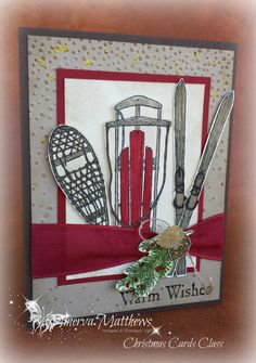 Winter Wishes Stampin' Up! Stamp set - Christmas card