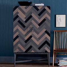 Parquetry Armoire #westelm