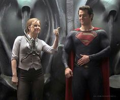 It's #SundayFunDay.  Caption this behind-the-scenes photo of Henry Cavill and Amy Adams from Man of Steel.