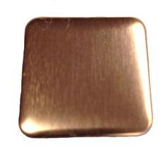 "Amazon.com: RMP Stamping Blanks, 1"", Square W/rounded Corners, Copper, (25.4mm), 24 Ga., 16 Oz"