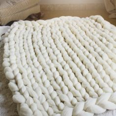 mantadisponible2 Merino Wool Blanket, Bed Covers, Trapillo